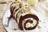 Chocolate Honeycomb Roulade
