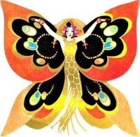 Themes Vintage illustrations/pictures - Butterfly Lady