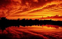 "*3  ~  ""Autumn coloured sky reflection"""