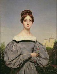 Portrait of Louise Vernet, Emile Jean Horace Verne 1st half of 19th century