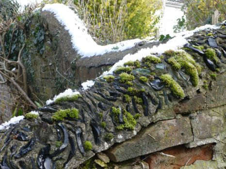 Snow on the wall