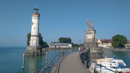 Harbour entrance of Lindau/Lake Constance