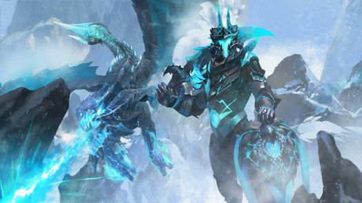 Blue Ice Dragon Knight (Large)