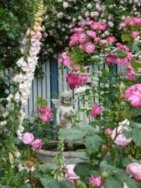 Pink Garden with Angel