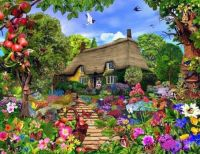 Thatch cottage and pretty flowers!