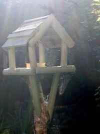 2021 Oct - Garden - Bird Table with Cobwebs