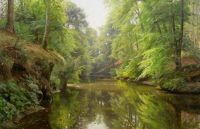 "Peder Mørk Mønsted,  ""The Quiet River"""