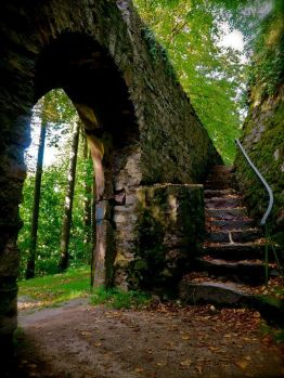 stairs Medieval Castle Gate - Herbst, Germany