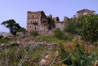 Ruins of old tower house in Mani region, Greece