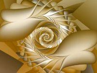 Gold Flowers Wallpaper