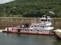 Tom Hoffman (now Michael T Somales) - Ohio River Towboat - New Cumberland Lock & Dam, Stratton, OH (2012-08-13)