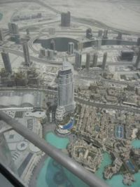 The Address Hotel in Dubai as seen from the Burj Khalifa