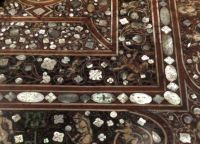 Inlaid stone tabletop detail