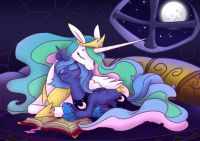 MLP: Celestia and Luna by equestria_prevails
