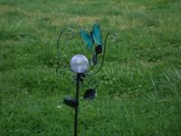Butterfly Gazing Ball in our Front Yard