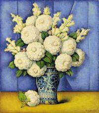 Alfredo Ramos Martinez (Mexican, 1871–1946), White Camelias (ca 1930)