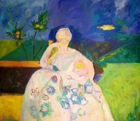 Femme en blanc Richard Diebenkorn