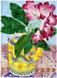 This Gabby Malpas watercolor would make a wonderful share right now - as an Easter/Spring greeting!