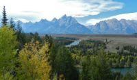 Grand Tetons at Snake River overlook,  9-17-13