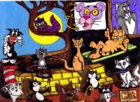 popular cartoon cats.