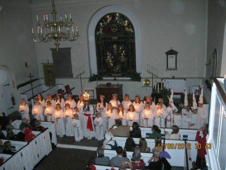 LUCIA FESTIVAL, OLD SWEDES CHURCH, WILMINGTON, DELAWARE