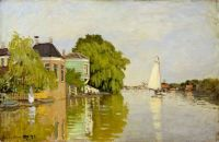 Claude Monet - Houses on the Achterzaan,1872 - especially for Lin (Mar17P80)