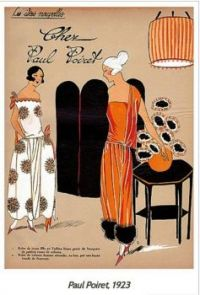 Paul Poiret Art Deco Fashion Plate