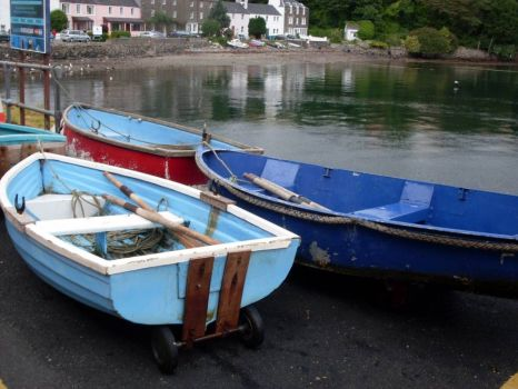 Boats: Portree harbour, Isle of Skye