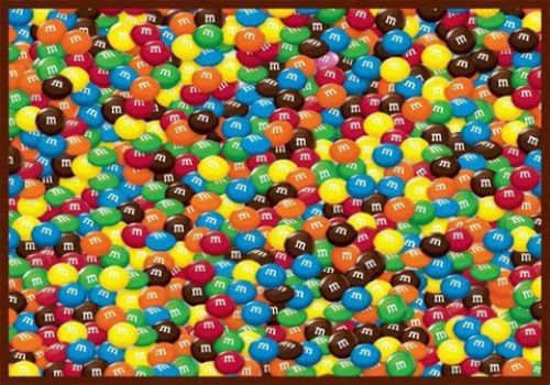 Find the pink M&M