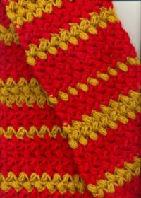 Red & gold scarf