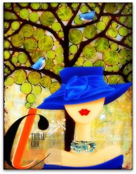 Girl with blue hat