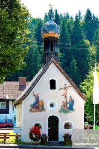 Church of St. Peter and Paul in the village of Klais in Bavaria, Germany