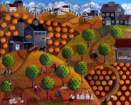 Pumpkin Apple Village Autumn - Bartley
