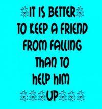 Be a friend . . . . .