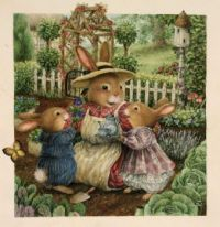 Teatime for Bunny family