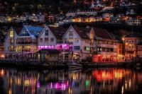Norway coastal village