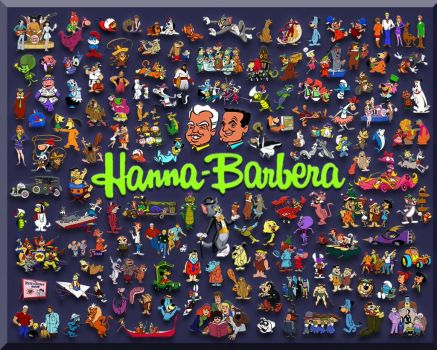 Hanna-Barbera Cartoon Collage