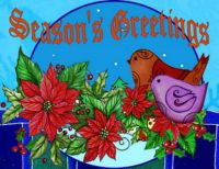 Seasons greetings birds