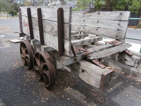 Wooden Rail Cart, Scone, NSW