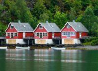 Fishermen's Cottages -- Flam, Norway...