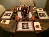 Grandma's turkey table