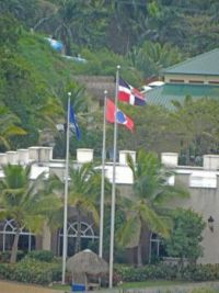 (37) flags flying in the Caribbean, 2018