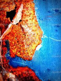 Orange and Blue Rust Texture - Rust Creates Art