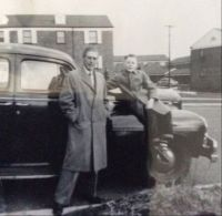 My Father and I on a Sunday drive long ago