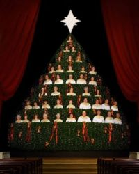 Singing Christmas Tree in Corinth, Miss