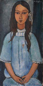 Amedeo Modigliani, 'Alice'.  Realizado hacia 1918