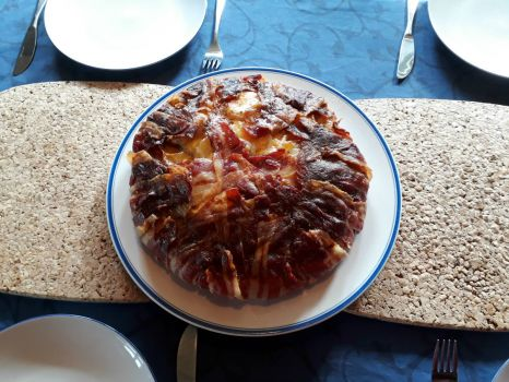 bacon cheddar potato tart
