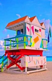 Colorful Life Guard Station