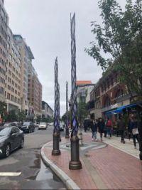 Boston Marathon finish line tribute to the 4 people killed