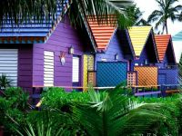 Colorful houses in the Bahamas